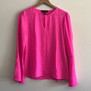 NWOT Banana Republic Blouse Hot Pink Size XS